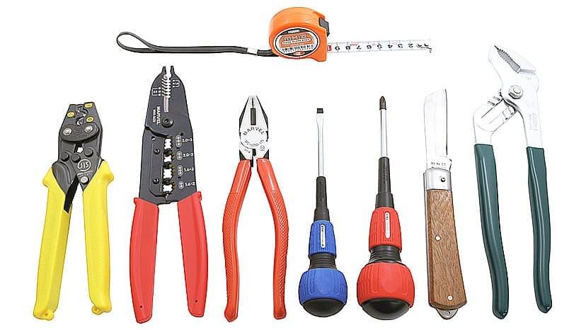 電気工事士技能試験工具セット。第1種・第2種の技能試験に。